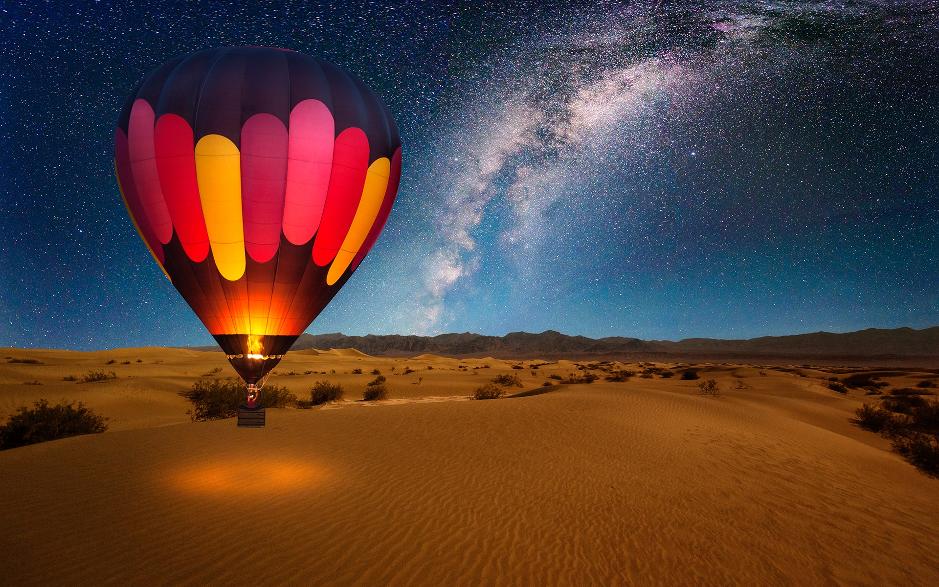 Cool Wallpaper Night Hot Air Balloon - 890026  Pictures-692896.jpg
