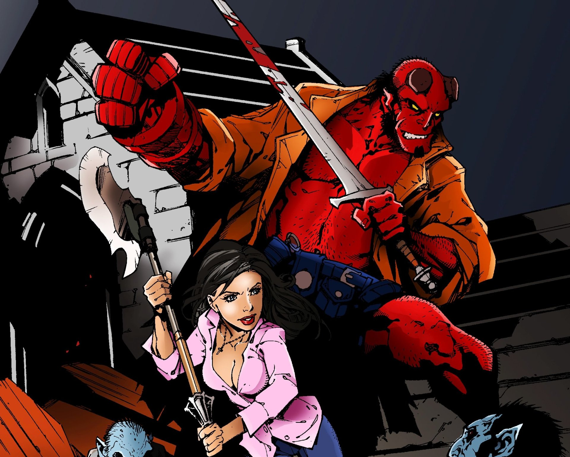 Çizgi Roman - Hellboy  Buffy the Vampire Slayer Duvarkağıdı