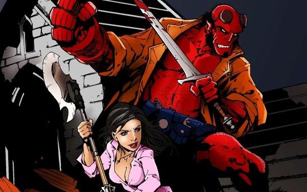 Comics Hellboy Buffy the Vampire Slayer HD Wallpaper   Background Image