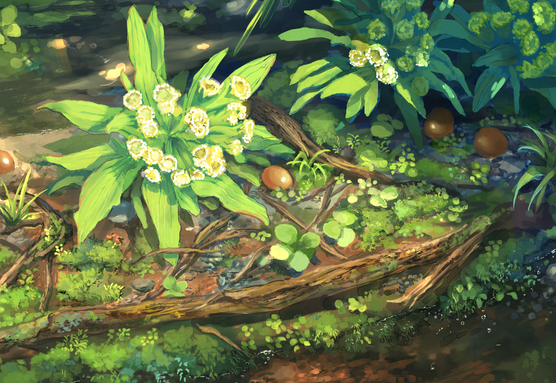Anime - Original  Flower Plant Wallpaper
