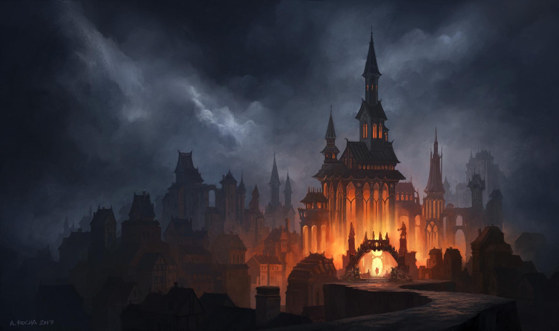 Fantasy Castle HD Wallpaper | Background Image | 1920x1138 ...