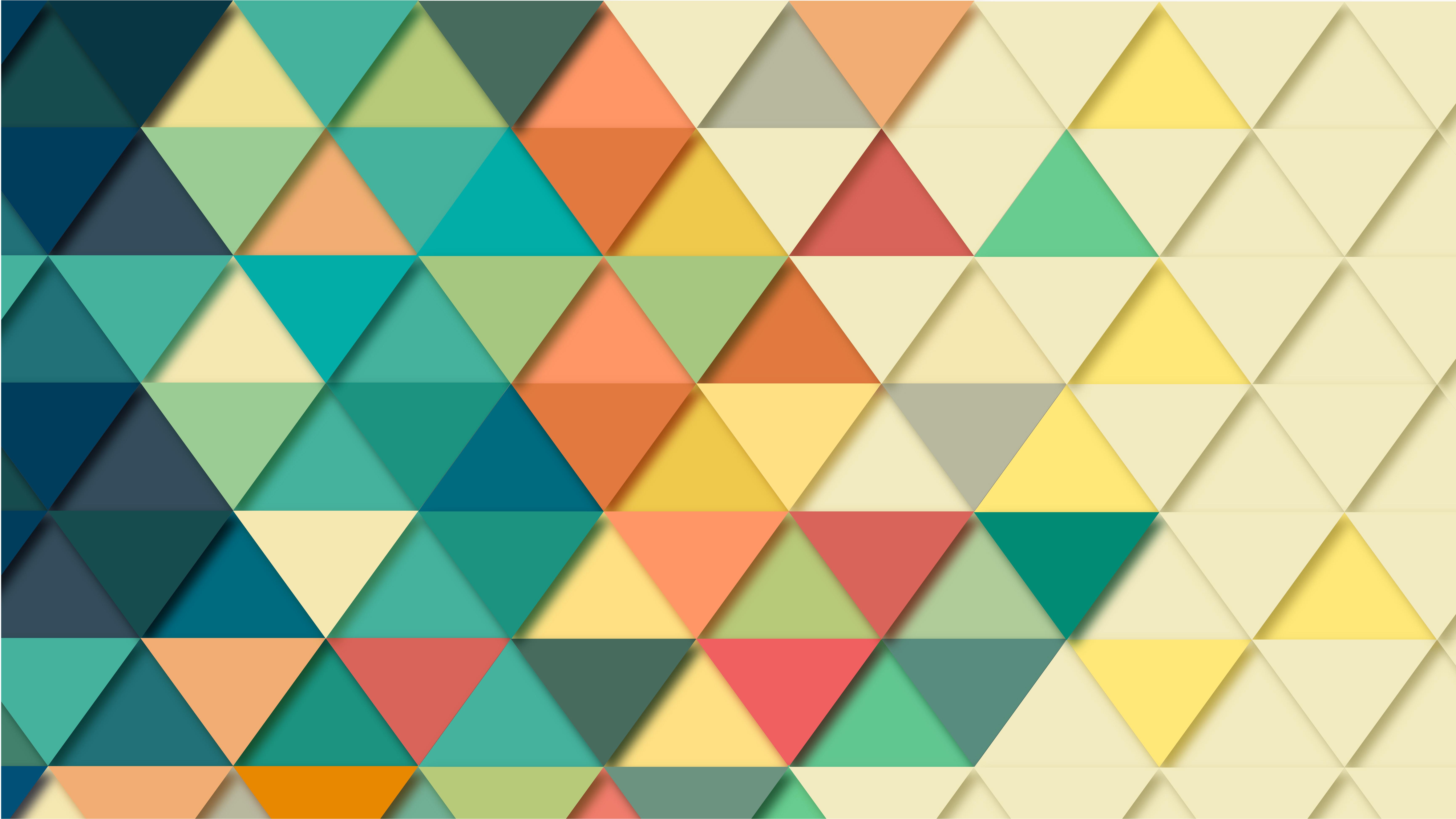 multicoloured triangles in a pattern 5k retina ultra hd
