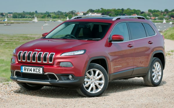 Vehicles Jeep Cherokee Jeep Jeep Cherokee Limited Crossover Car SUV Red Car Car HD Wallpaper | Background Image