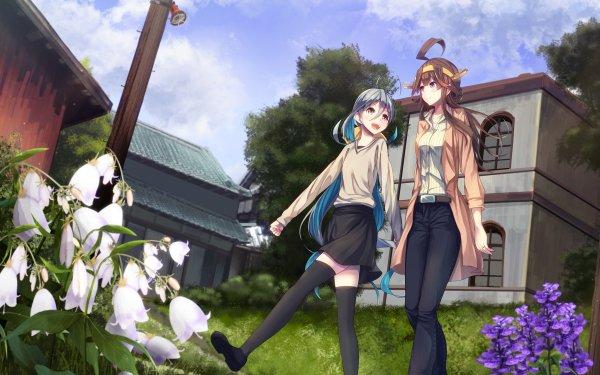 Anime Kantai Collection Kongou Kiyoshimo HD Wallpaper | Background Image