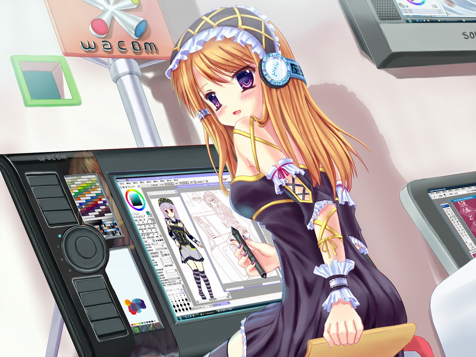 Girl wallpaper and background image 1600x1200 id895163 anime girl wallpaper voltagebd Images