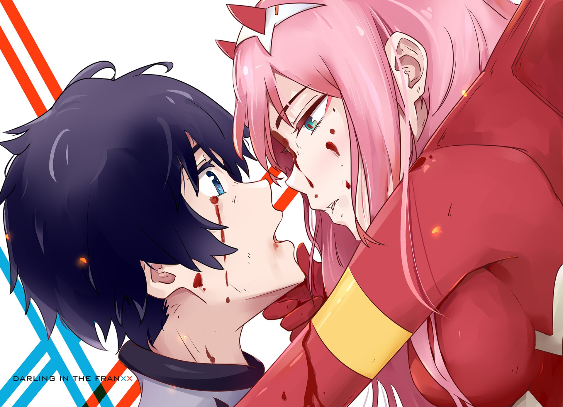 动漫 - Darling in the FranXX  Hiro (Darling in the FranXX) Zero Two (Darling in the FranXX) 壁纸