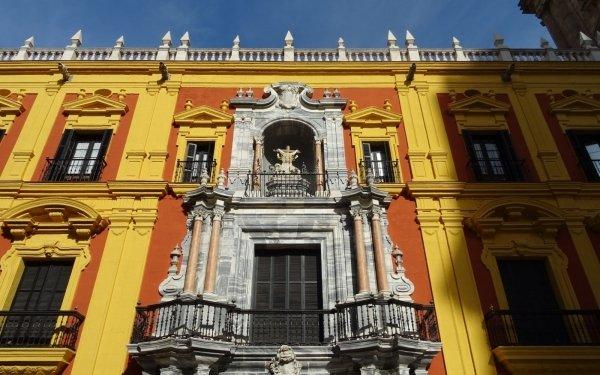 Man Made Palace Palaces Malaga Spain Building HD Wallpaper | Background Image