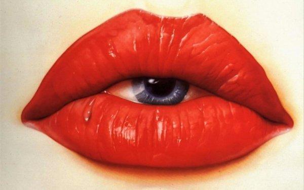 Oscuro Lips Ojo Terrorífico Fondo de pantalla HD | Fondo de Escritorio