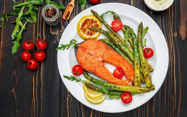 Alimento Pescado Salmon Vegetable Tomate Bodegón Fondo de pantalla HD   Fondo de Escritorio
