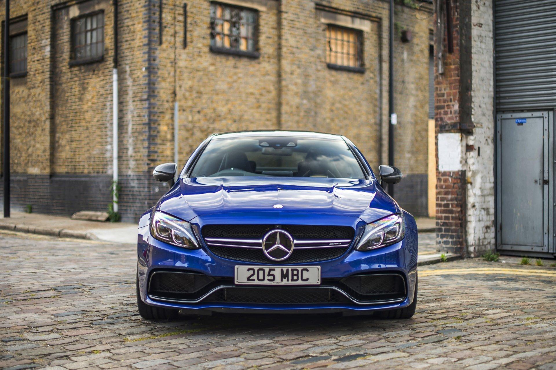 座驾 - Mercedes-Benz C-Class  梅赛德斯-奔驰 汽车 交通工具 Blue Car Luxury Car 壁纸