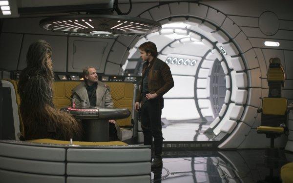 Movie Solo: A Star Wars Story Star Wars Alden Ehrenreich Chewbacca Han Solo Tobias Beckett Woody Harrelson HD Wallpaper   Background Image