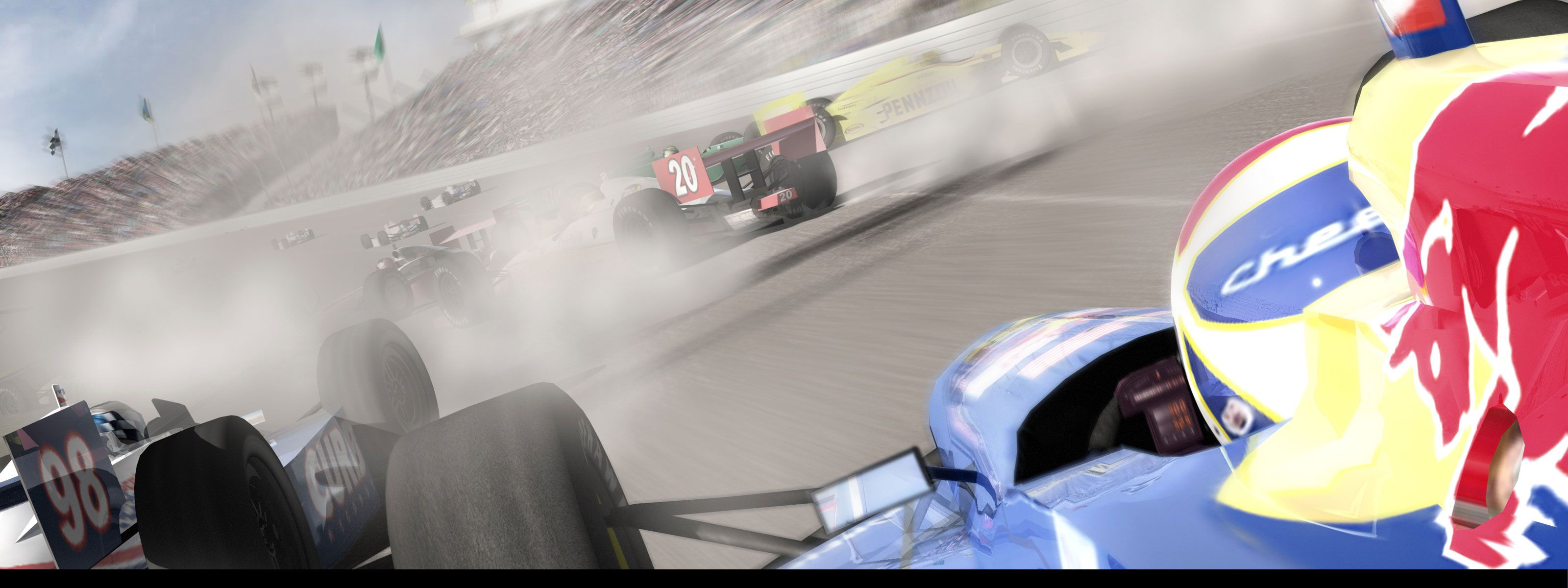Indycar series full hd wallpaper and background image 3200x1200 multi monitor video game wallpaper voltagebd Images