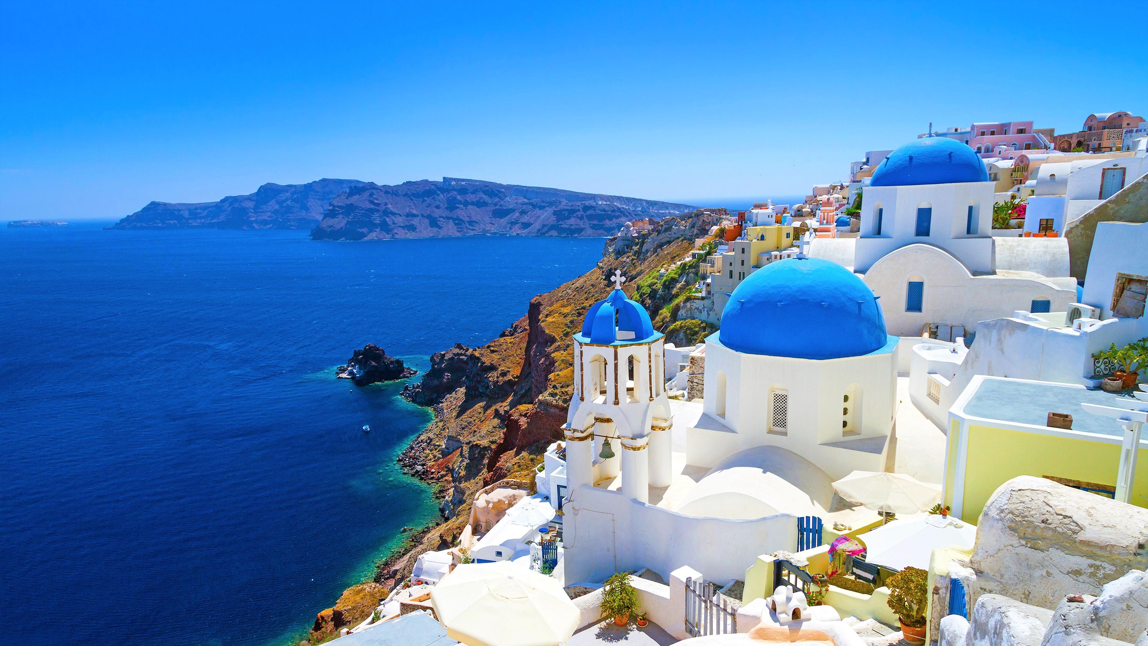 Santorini Greece 4k Ultra HD Wallpaper