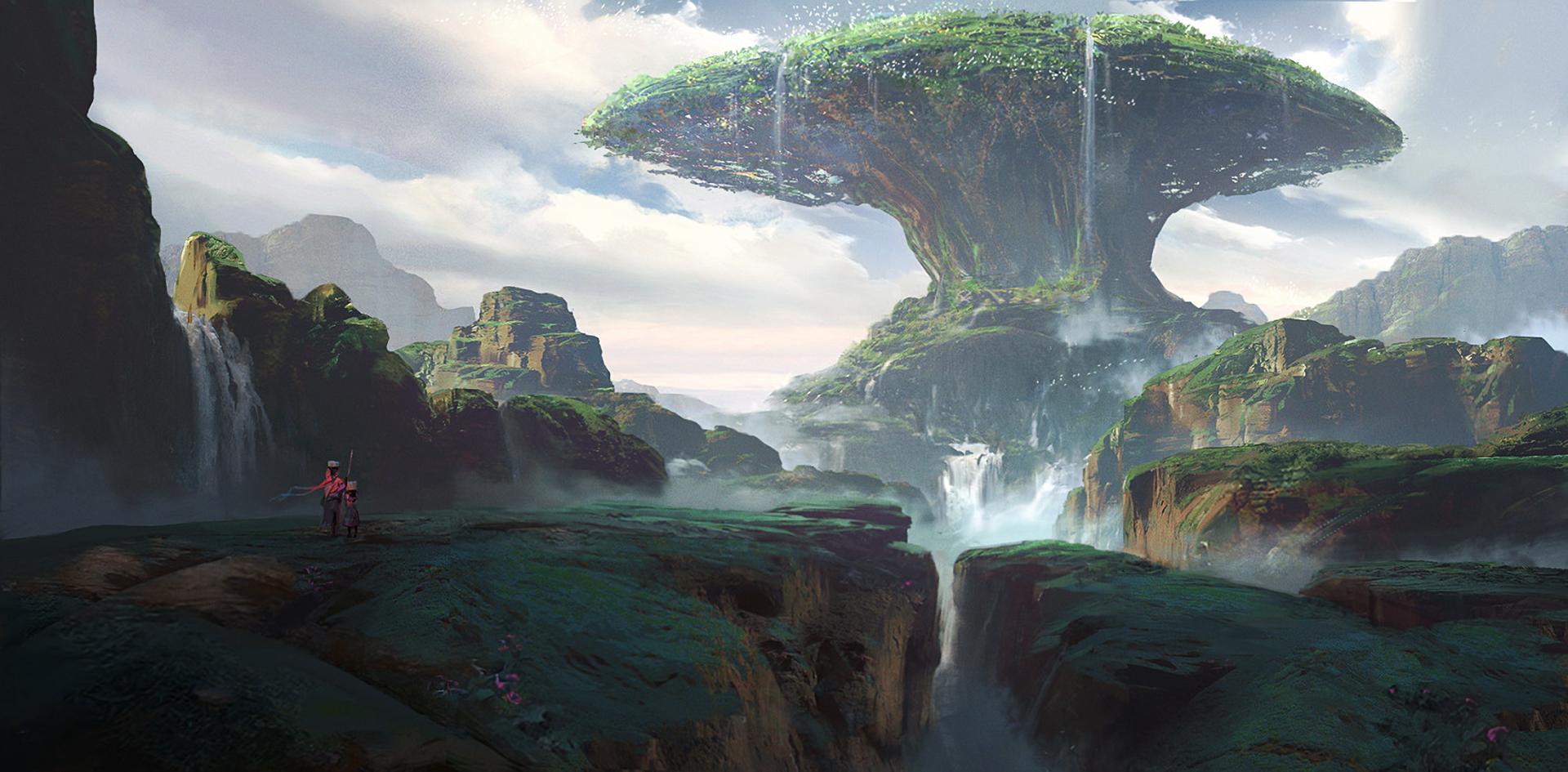 Fantasi - Landskap  Bakgrund