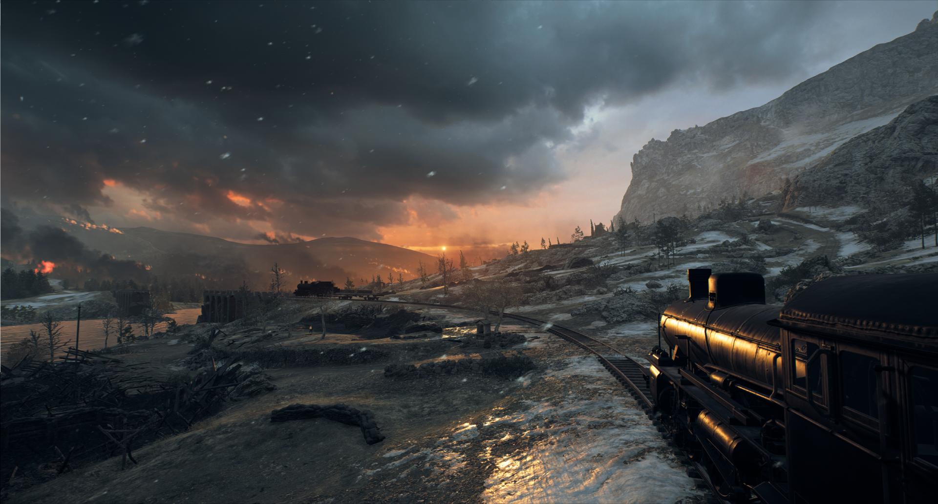 Video Game - Battlefield 1  Train Snow Wallpaper