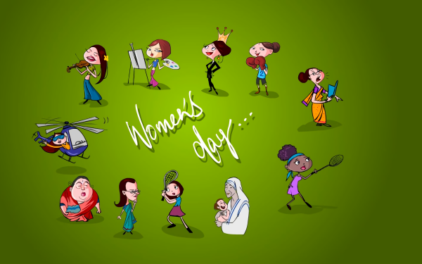 Holiday Women's Day Statement Green HD Wallpaper | Background Image