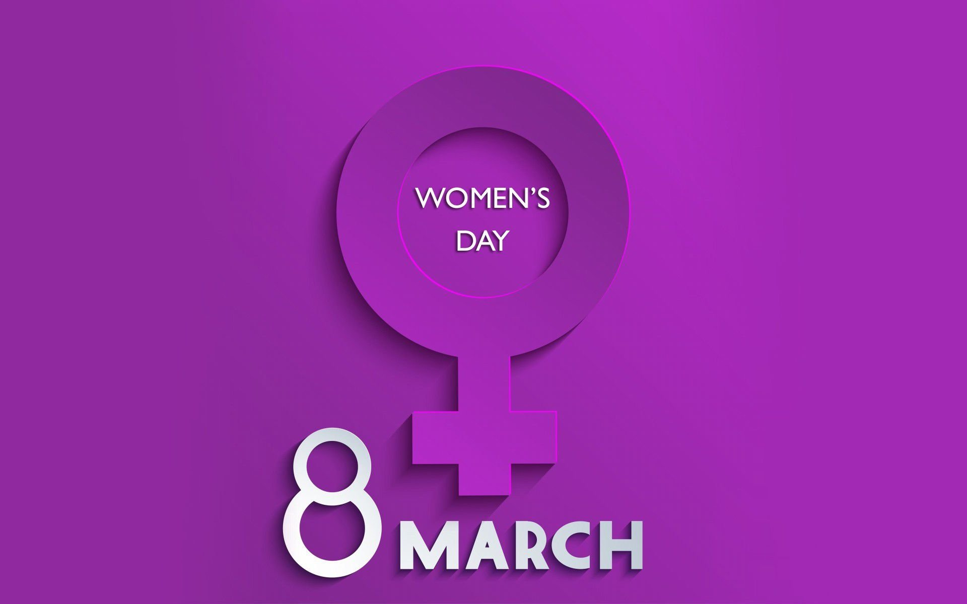 Holiday - Women's Day  Purple Statement Symbol Wallpaper