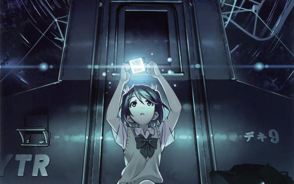 Anime Original Train Short Hair Black Hair bow HD Wallpaper | Background Image