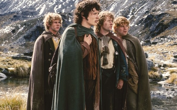 Movie The Lord of the Rings: The Fellowship of the Ring The Lord of the Rings Movies Merry Brandybuck Frodo Baggins Peregrin Took Samwise Gamgee Dominic Monaghan Elijah Wood Billy Boyd Sean Astin HD Wallpaper | Background Image