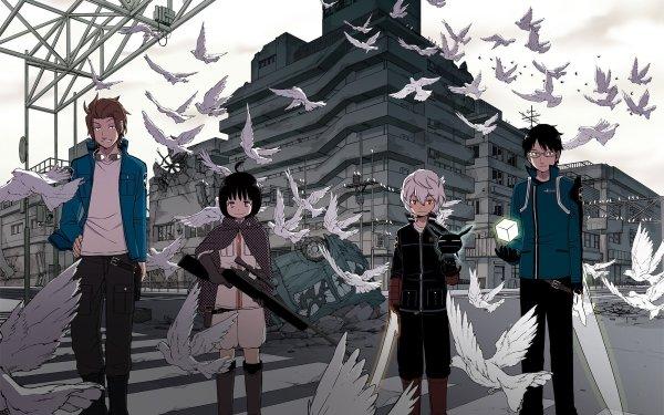 Anime World Trigger Yūichi Jin Chika Amatori Yūma Kuga Osamu Mikumo Fondo de pantalla HD | Fondo de Escritorio