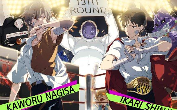 Anime Neon Genesis Evangelion Evangelion Kaworu Nagisa Shinji Ikari Asuka Langley Sohryu Evangelion Unit-01 Ramiel Sachiel Lilith HD Wallpaper | Background Image