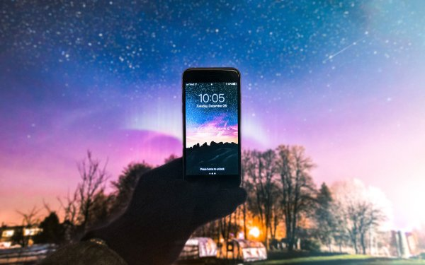 Technology Phone iPhone Smartphone Sky Night HD Wallpaper | Background Image