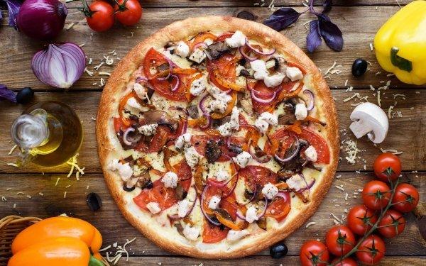 Food Pizza Still Life Tomato HD Wallpaper | Background Image