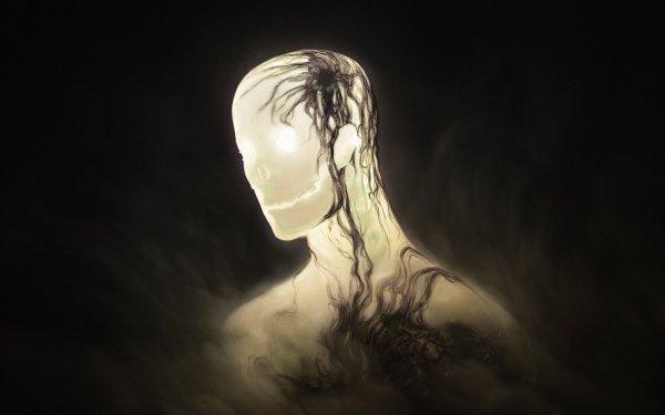 Dark Creepy Head HD Wallpaper   Background Image