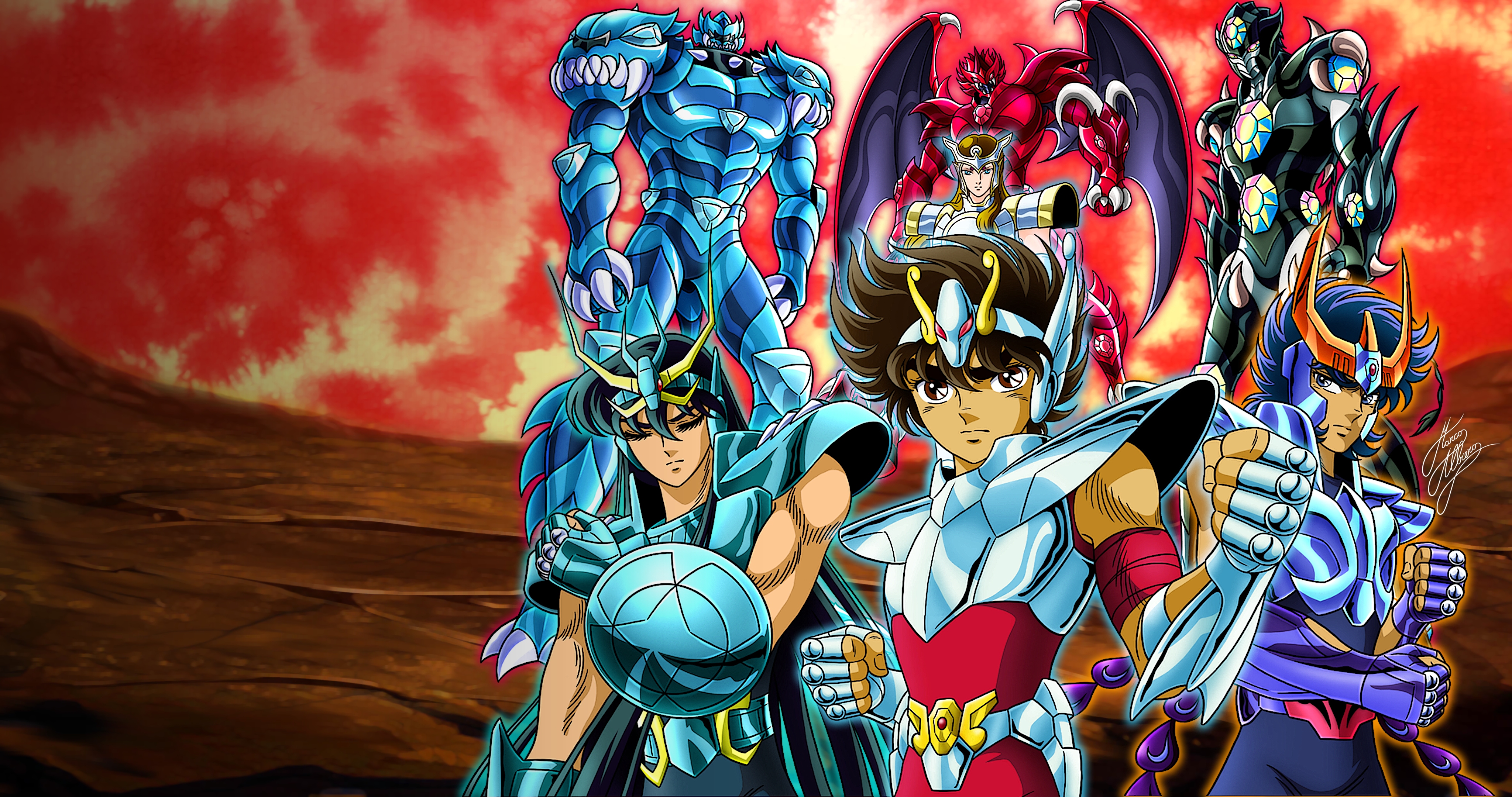 Saint Seiya Gigantomachia 4k Wallpaper 4k Ultra Papel De Parede