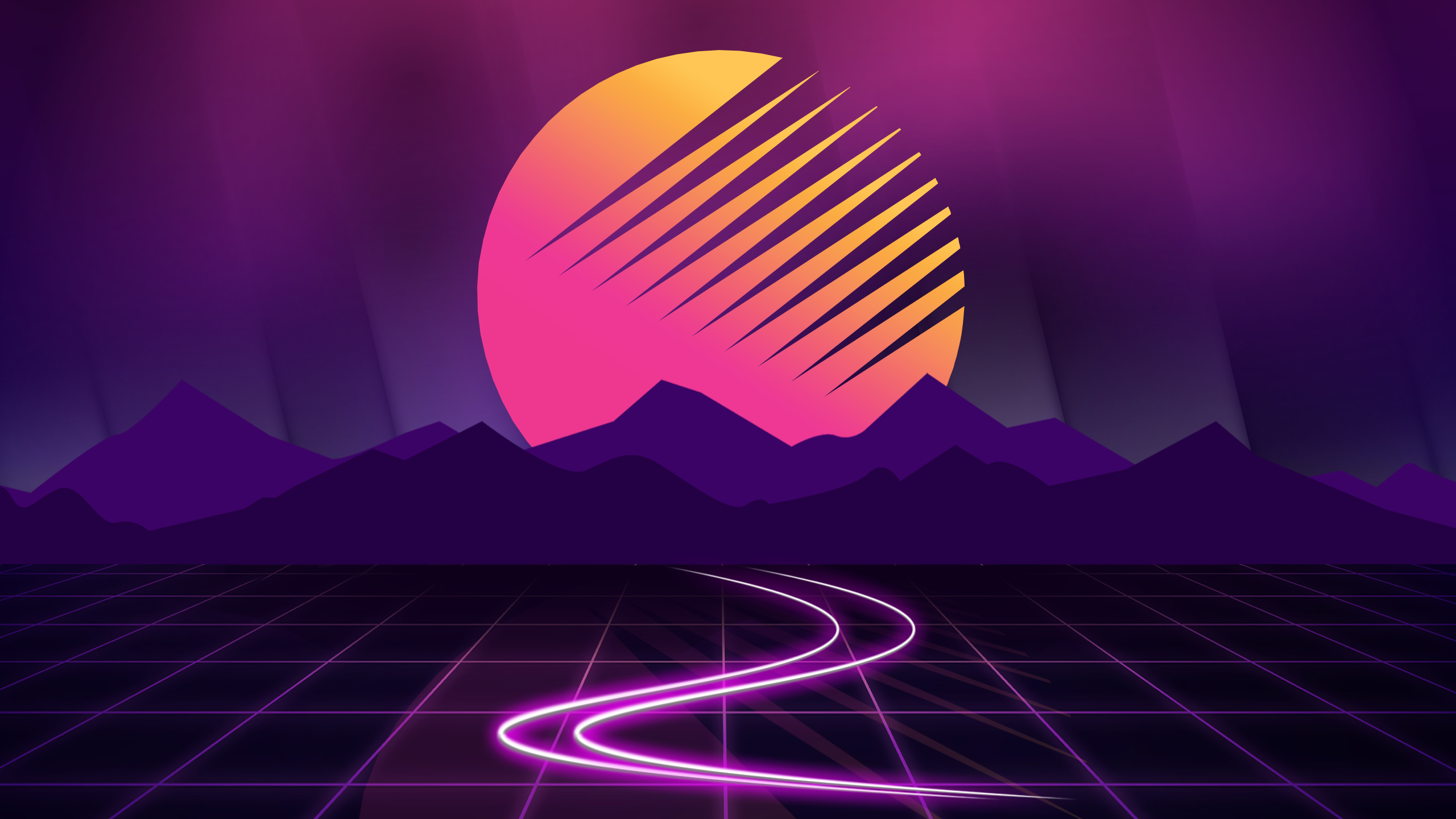 Retro Wave Hd Wallpaper Background Image 2560x1440 Id 914666 Wallpaper Abyss