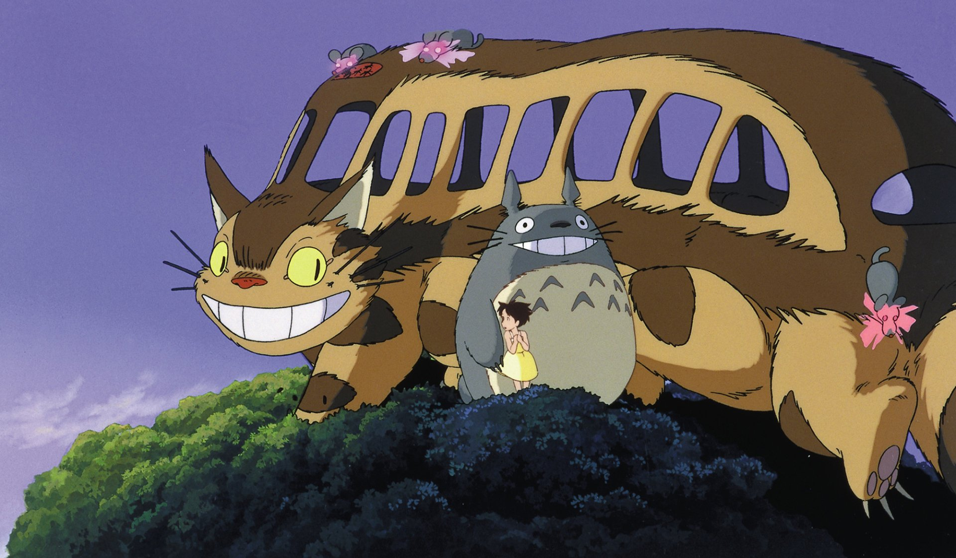 Movie - My Neighbor Totoro  Catbus (My Neighbor Totoro) Totoro (My Neighbor Totoro) Satsuki Kusakabe Wallpaper