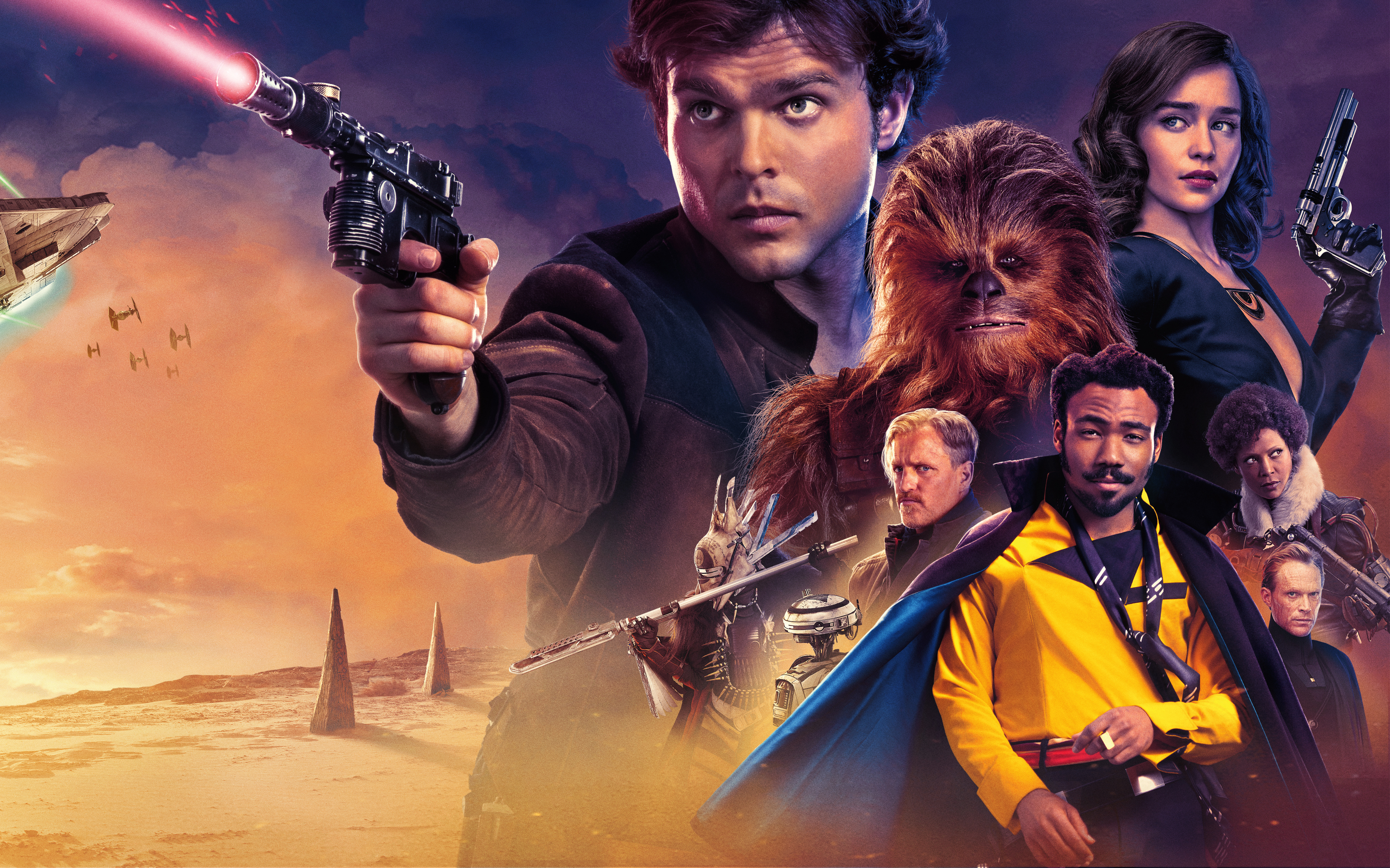 Solo A Star Wars Story 4k Ultra Hd Wallpaper Background Image