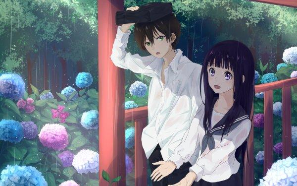 Anime Hyouka Eru Chitanda Hōtarō Oreki HD Wallpaper | Background Image
