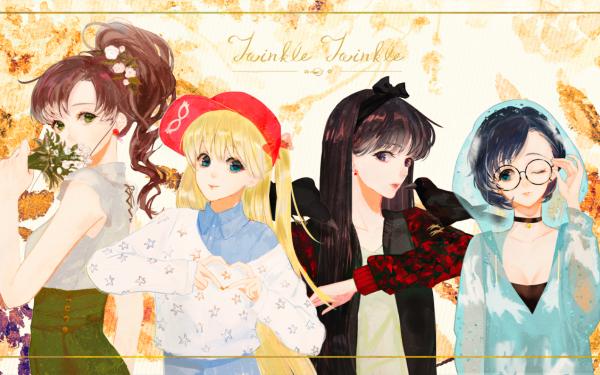 Anime Sailor Moon Minako Aino Rei Hino Makoto Kino Ami Mizuno HD Wallpaper | Background Image