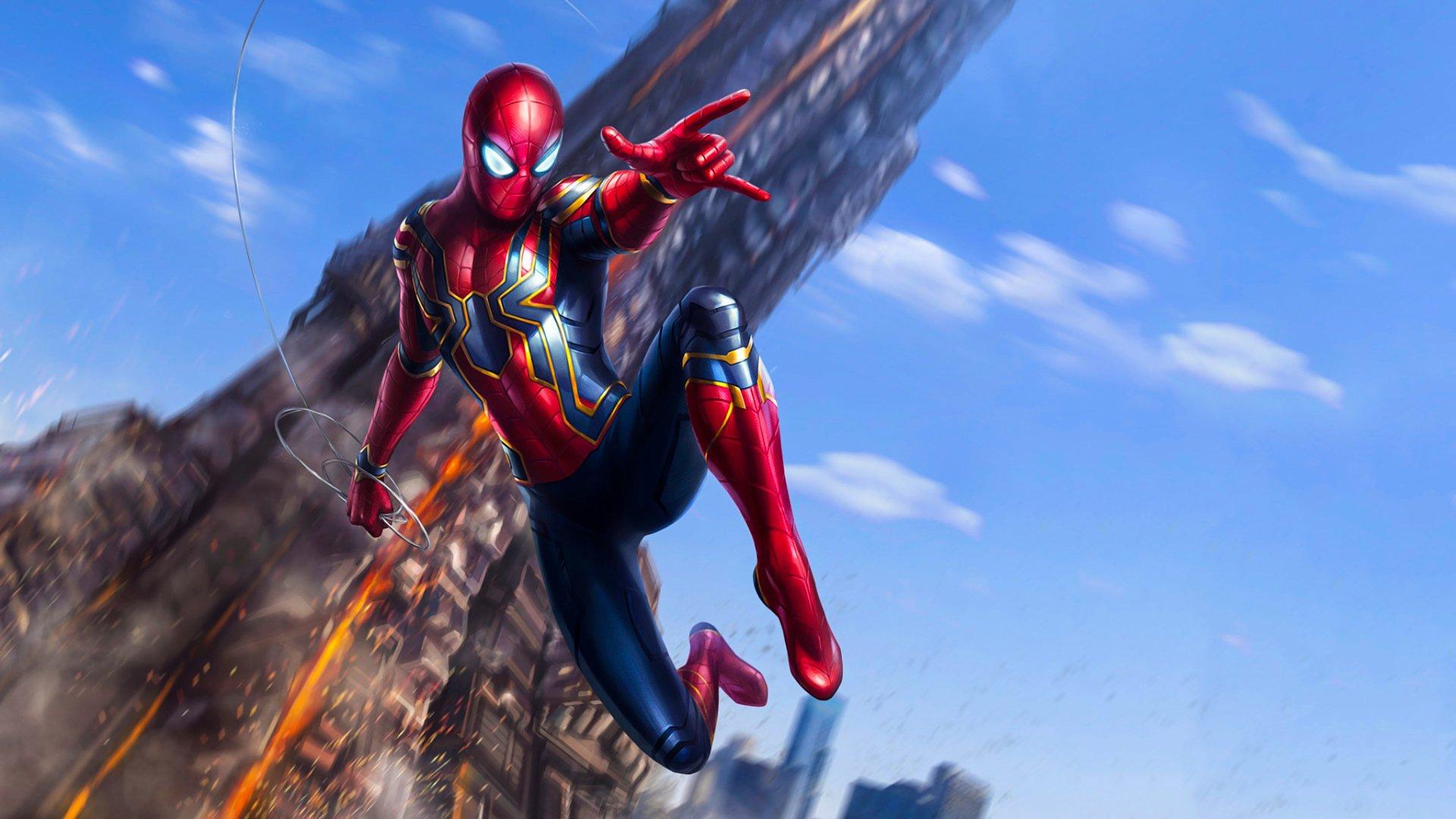 Iron spider avengers infinity war hd wallpaper - Iron man spiderman wallpaper ...
