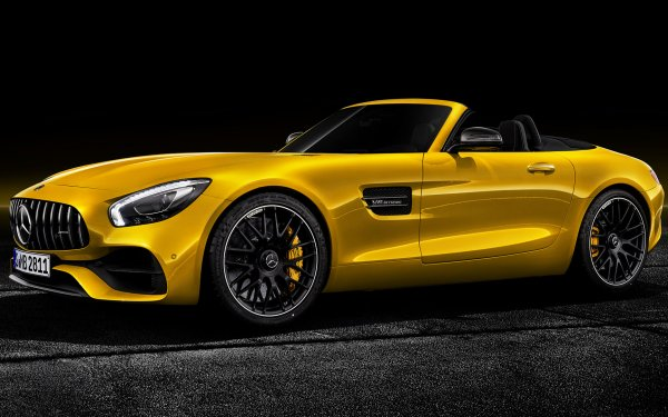 Vehicles Mercedes-AMG GT S Mercedes-Benz Roadster Sport Car Yellow Car Car HD Wallpaper   Background Image
