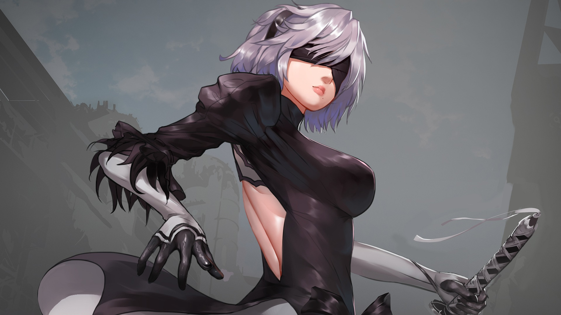 #3001251 1920x1240 Girl, Katana, NieR: Automata, Orb