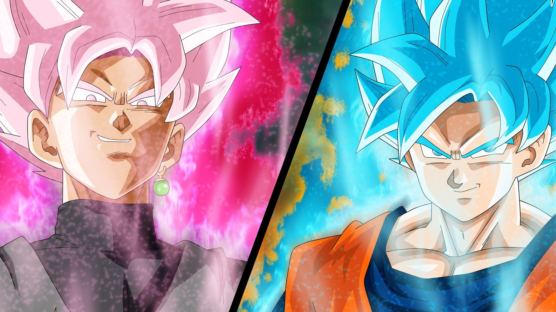 Black Goku Fondo De Pantalla And Fondo De Escritorio: Goku And Black Goku Fondo De Pantalla