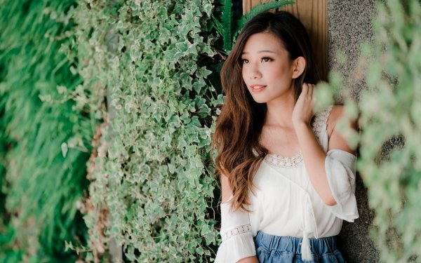 Women Asian Woman Model Girl Brunette Smile Ivy Brown Eyes HD Wallpaper | Background Image