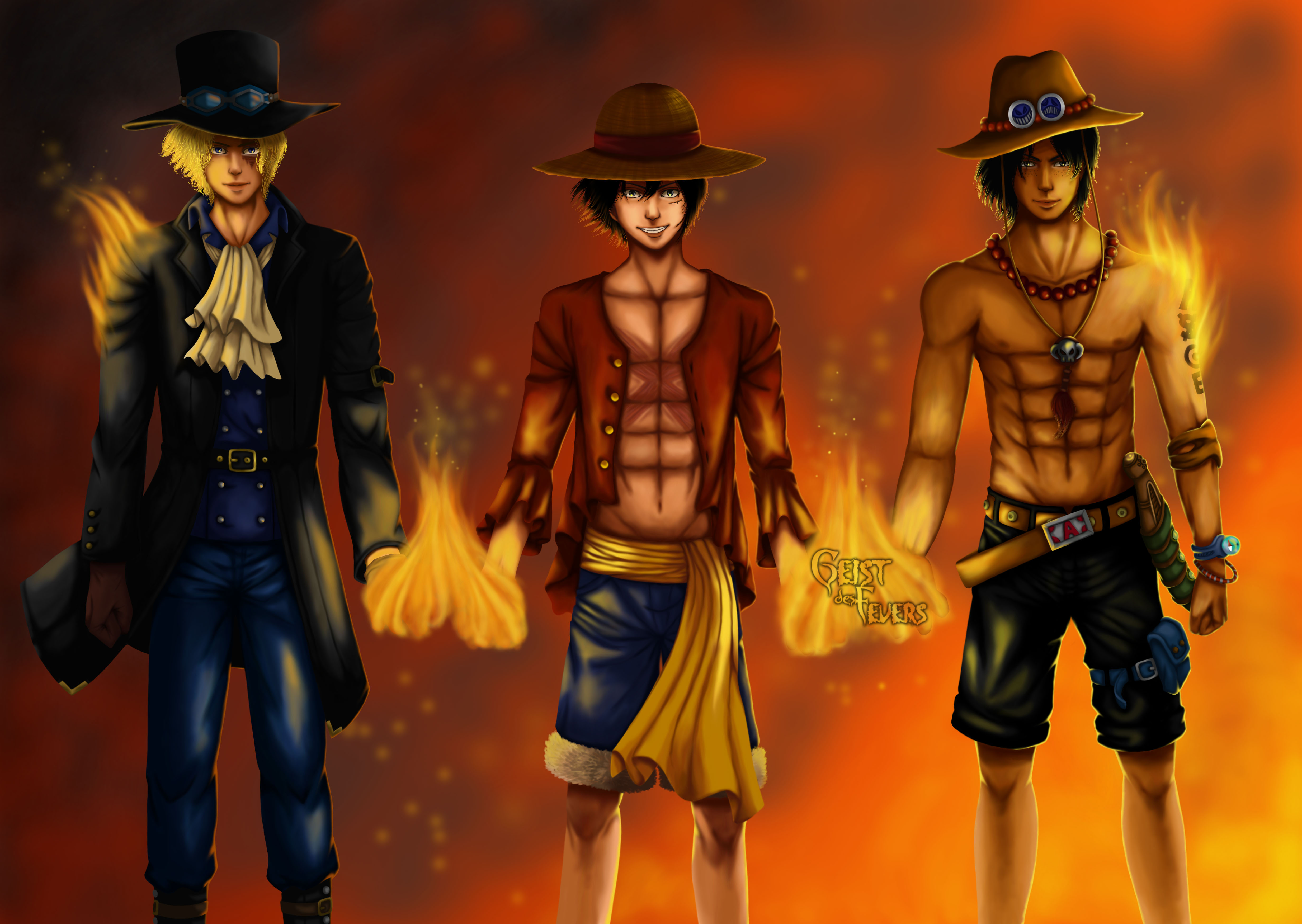 One Piece 4k Ultra Hd Wallpaper Hintergrund 4932x3500