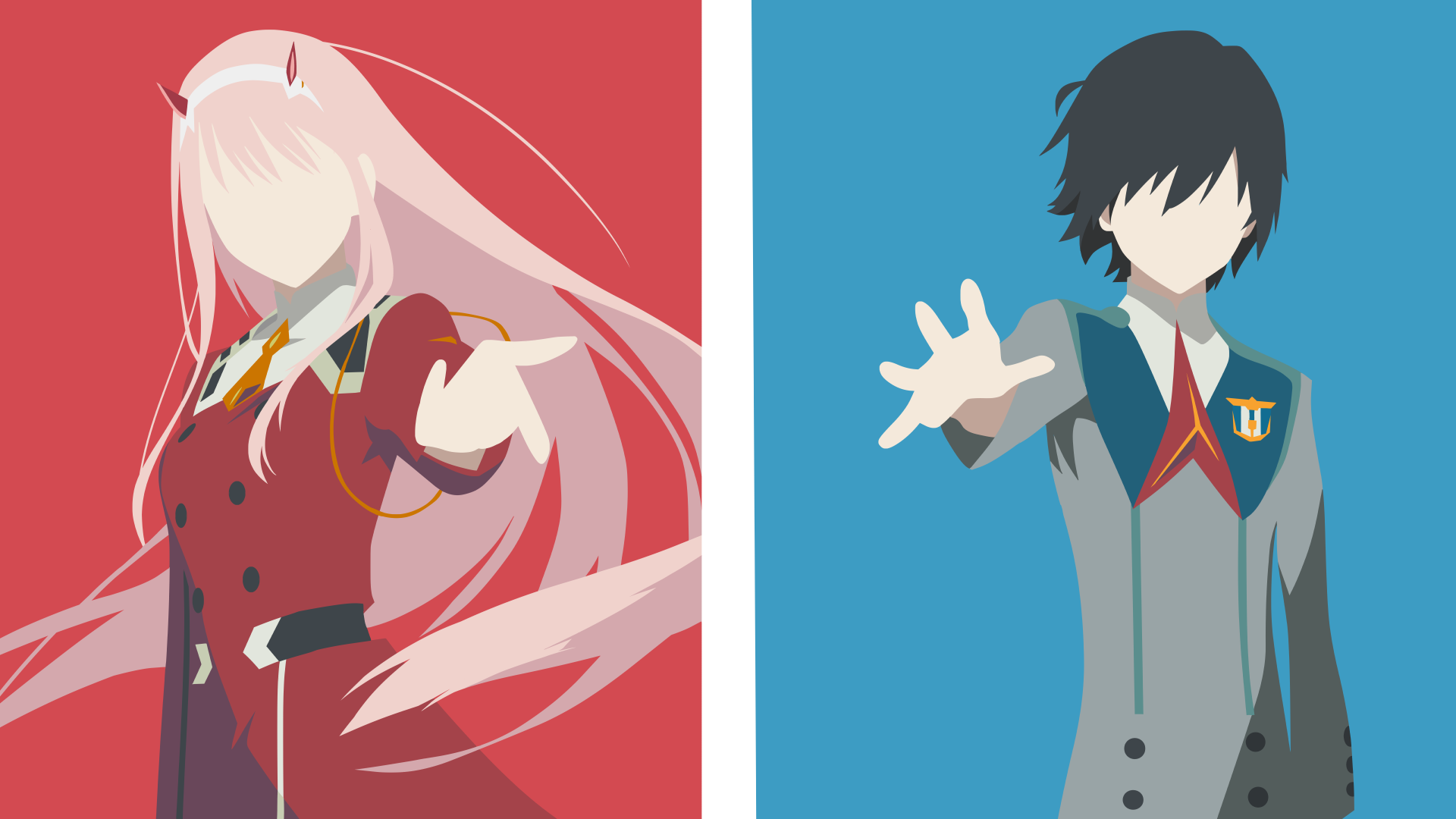 Hiro And Zero Two Darling In The Franxx V2 Hd Wallpaper