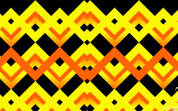 Abstract Geometry Shapes Colors Digital Art Yellow Chevron HD Wallpaper | Background Image