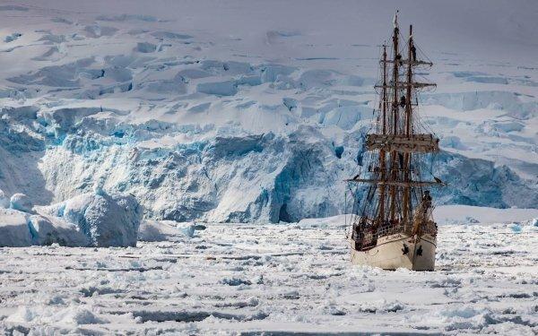 Vehicles Ship Ice Antarctica HD Wallpaper   Background Image