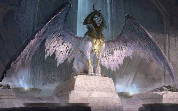 Fantasy Creature Wings Sphinx HD Wallpaper | Background Image