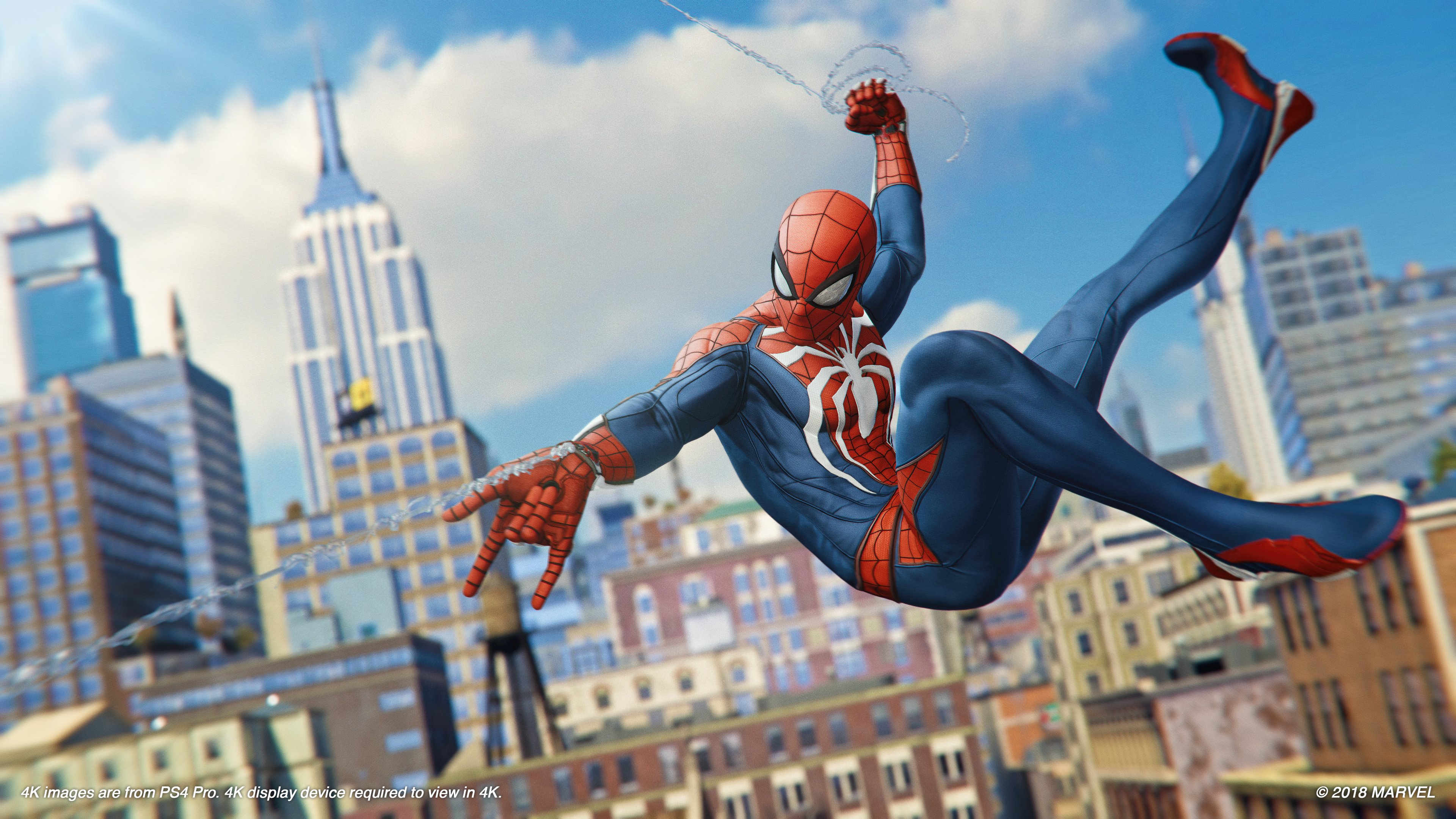 Marvel S Spider Man Ps4 Web Sling 4k Ultra Fond D Ecran Hd