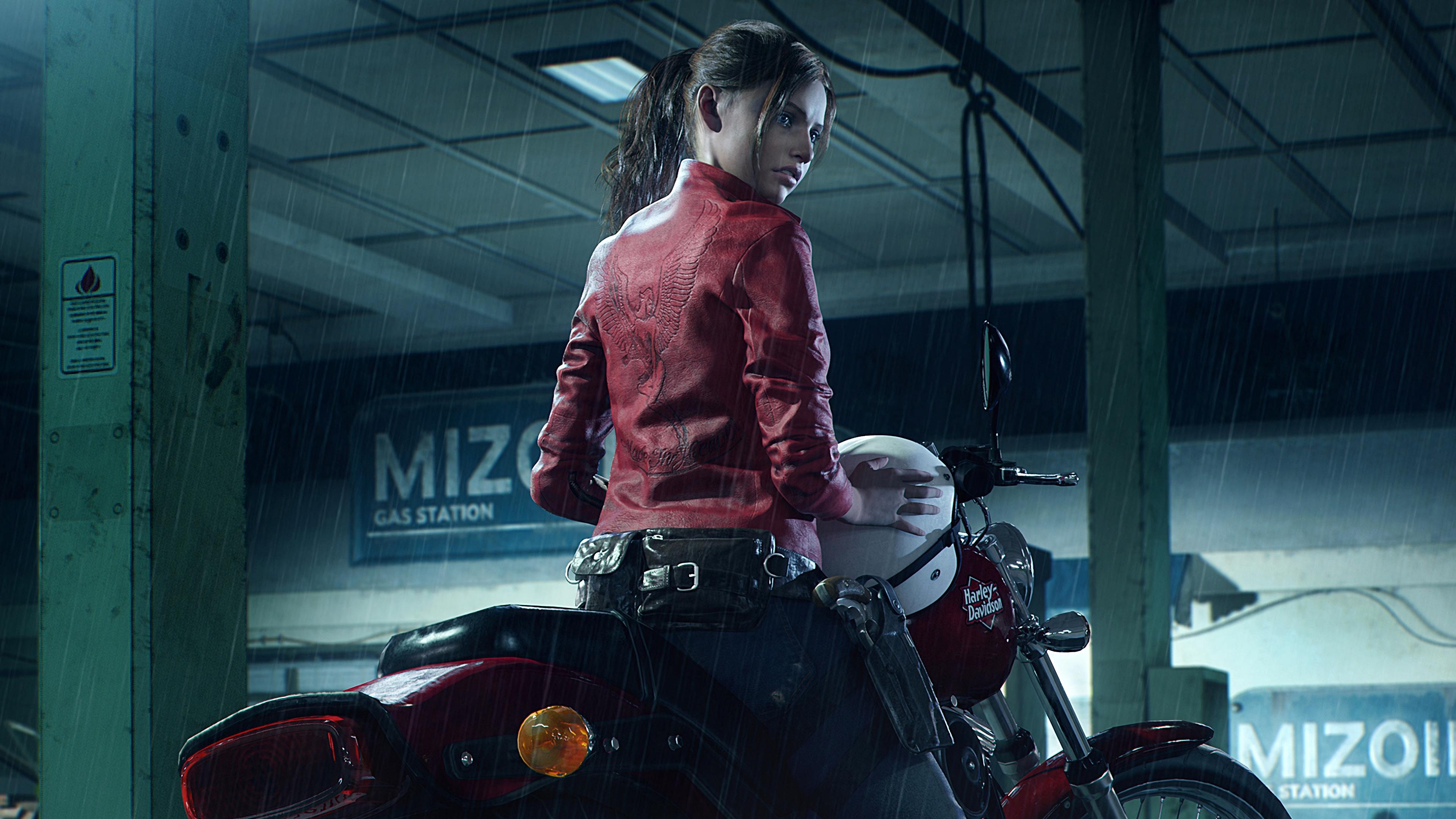 Resident Evil 2 Wallpaper: Resident Evil 2 (2019) Claire's Motorcycle 4k Ultra HD