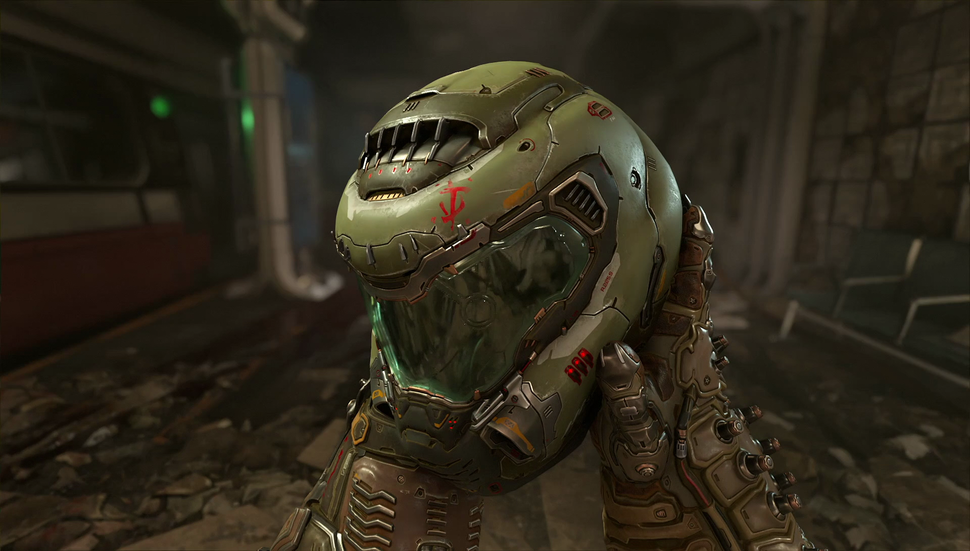 Doom Eternal Slayer Helmet Hd Wallpaper Background Image 1920x1090 Id 940775 Wallpaper Abyss