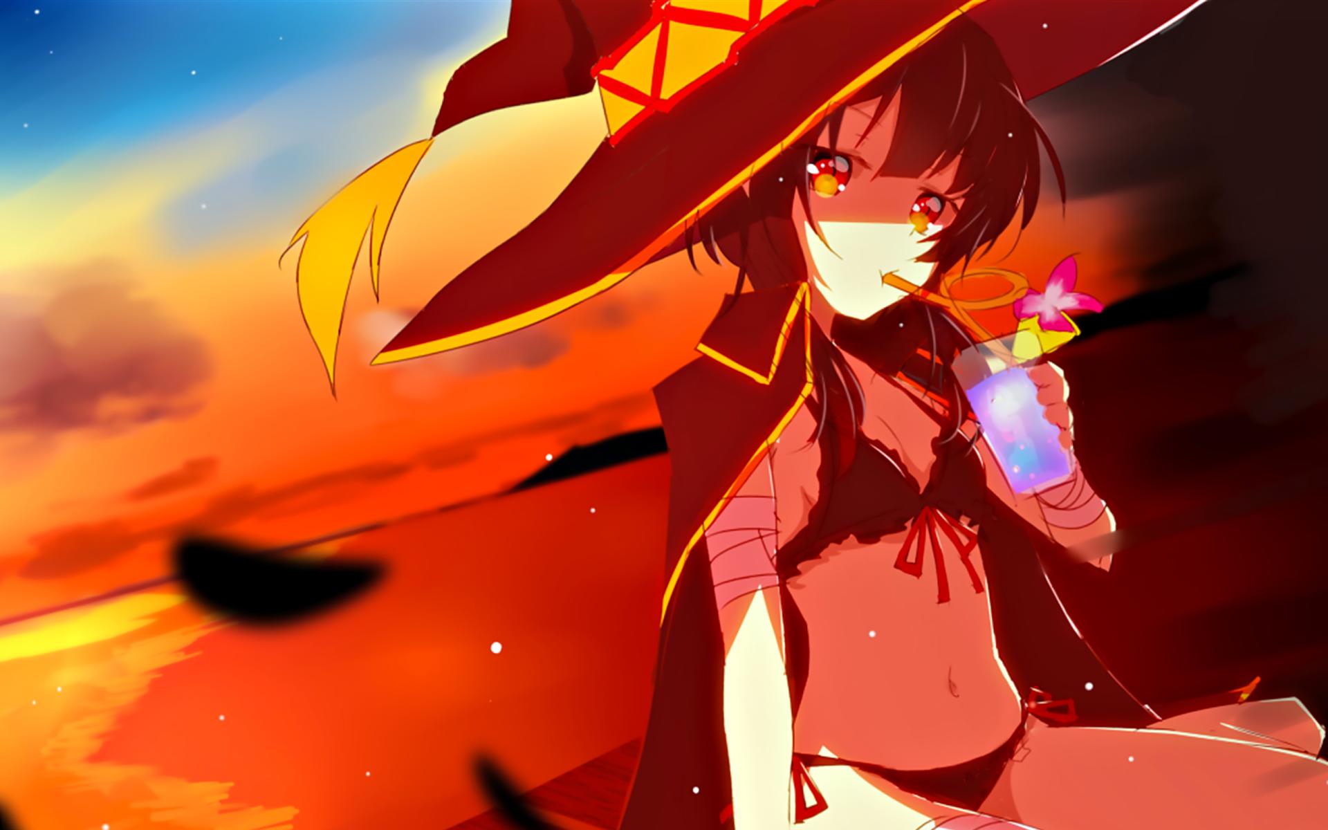 Anime Girls Beach Wallpaper HD 1920 x 1080 4k