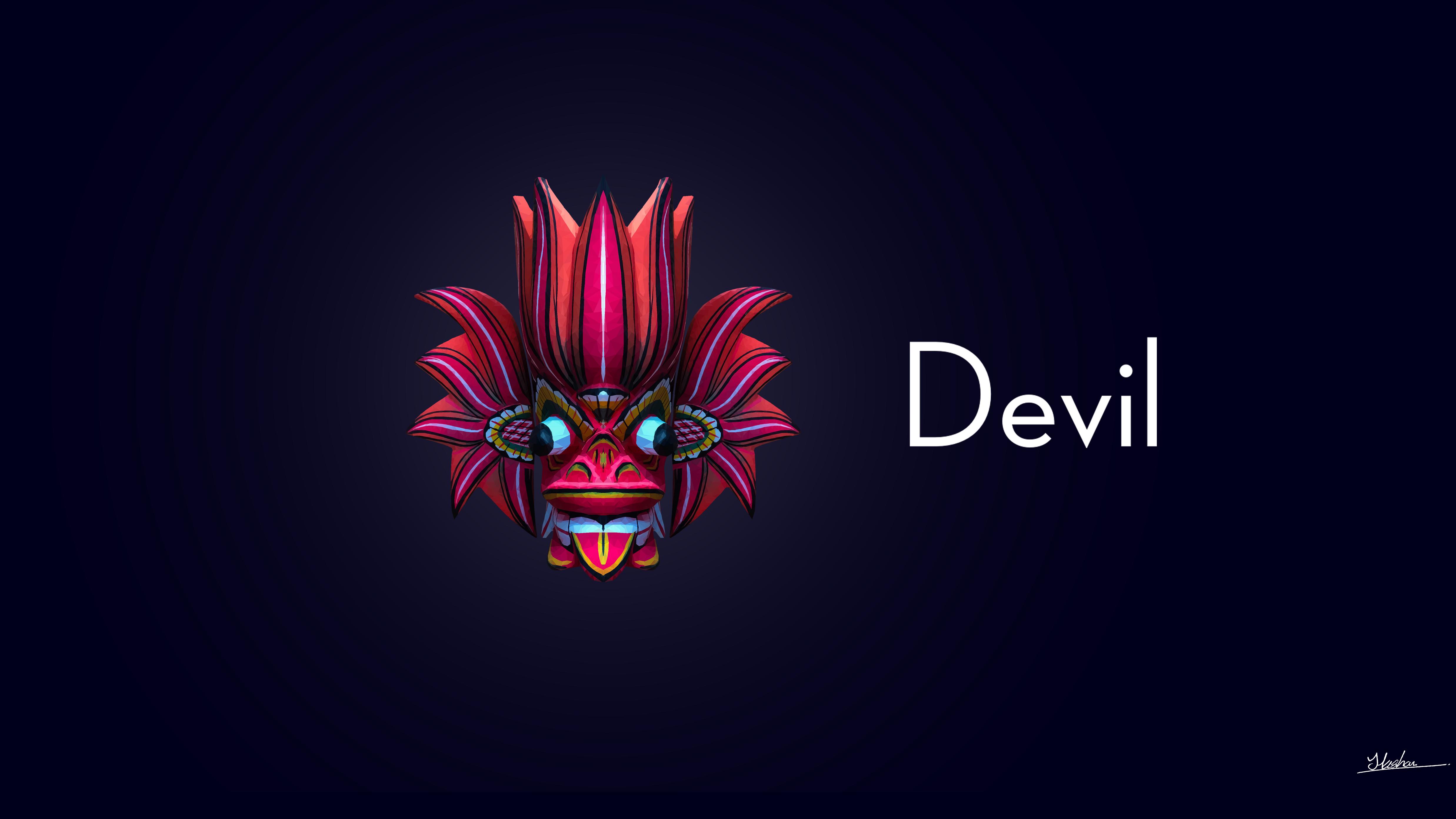 Sri Lankan Devil Mask 4k Ultra HD Wallpaper | Background ...