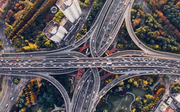 Man Made Highway Shanghai China HD Wallpaper | Background Image